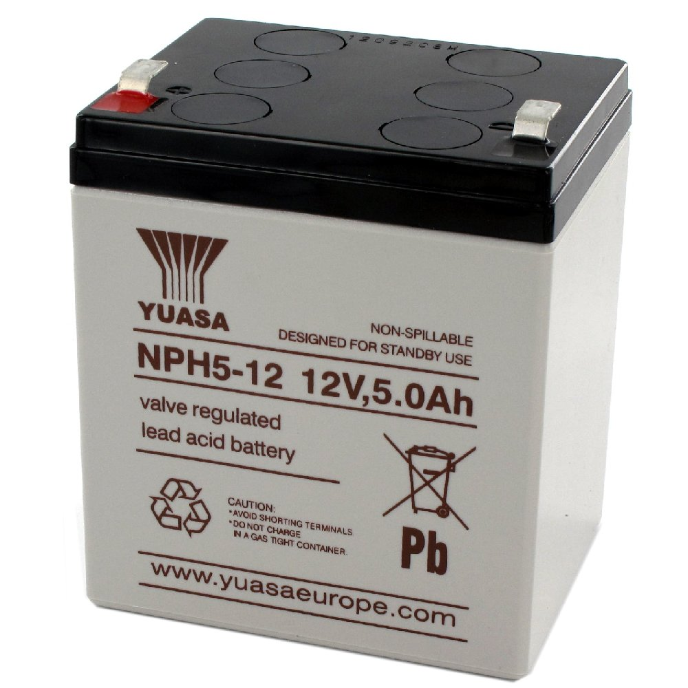 12v 5ah Battery >> Yuasa Sealed Acid Battery 12v 5ah