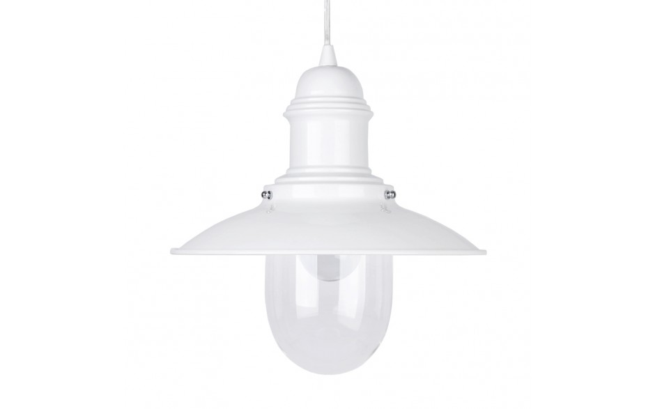 Off White Finish Fisherman S Metal Ceiling Pendant With