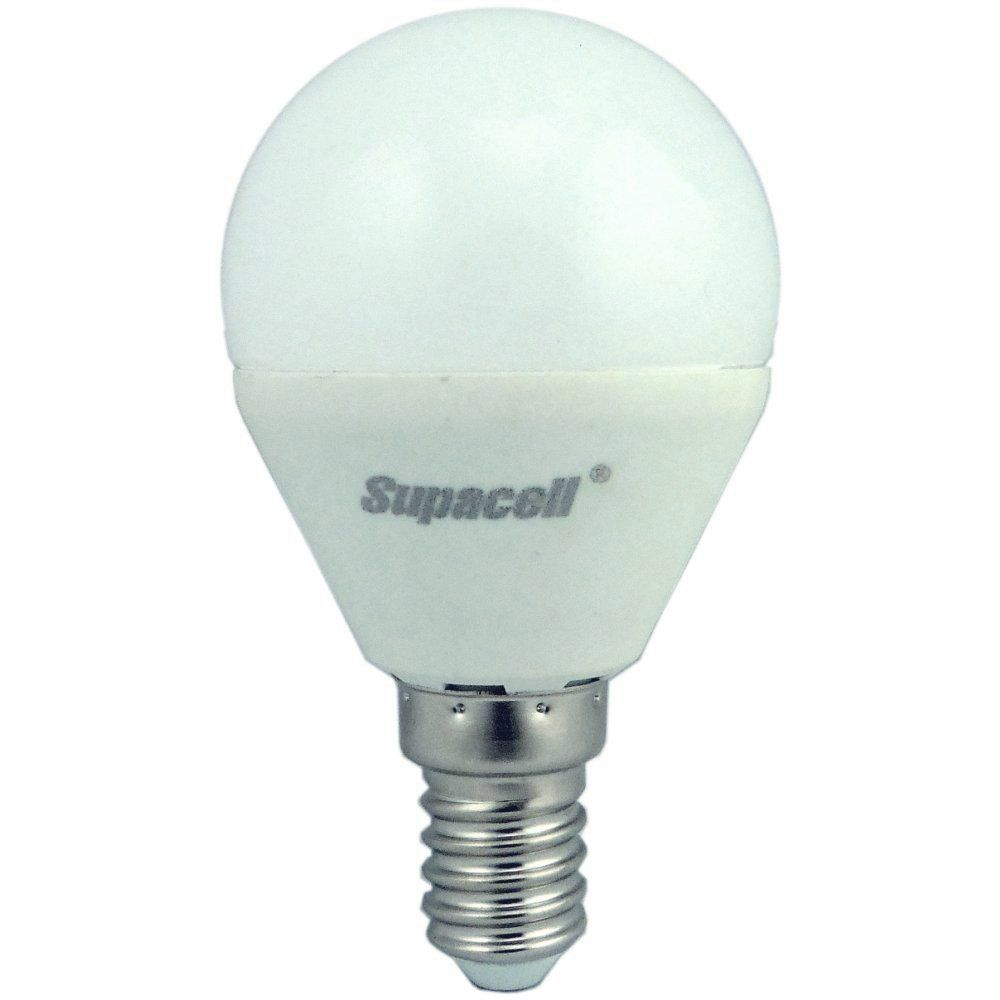 supacell led golfball 5w 40w 425lm ses e14 3000k non dim opal enviro lights. Black Bedroom Furniture Sets. Home Design Ideas