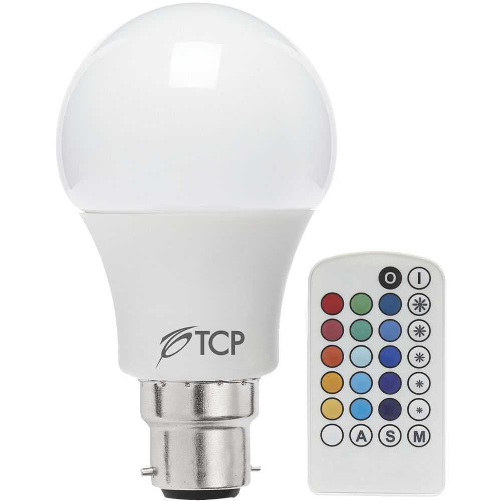 tcp led lamp bulb classic gls colour changing with remote. Black Bedroom Furniture Sets. Home Design Ideas