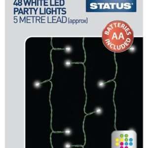 Status SPL48L1PKB3 48 LED Party Plastic Lights, White