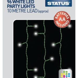 Status SPL96L1PKB3 96 LED Party Plastic Lights, White