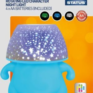 Status SCPNL1PKB2 LED Character Projector Night Plastic Light, Blue