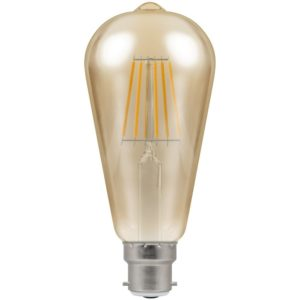 Crompton LED Vintage ST64 Filament lamp BC 7.5W 2200k Dimmable 4245
