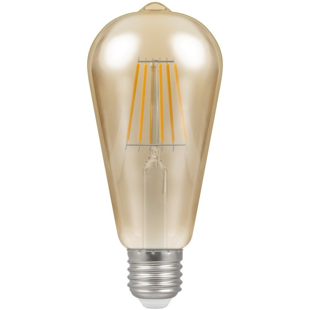 Crompton 4252 led es e27 7 5w 2200k vintage filament st64 light bulb enviro lights Light bulb lamps