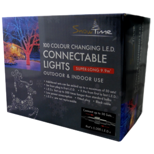 Snowtime 100 Connectable Colour Changing LED Lights 342399