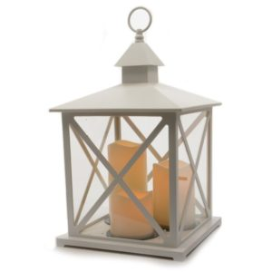 Kaemingk Led Plastic Lantern White Out Bo 40.5cm