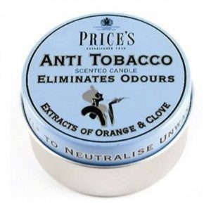 123340 Prices Fresh Air Candle Tin - Anti Tobacco