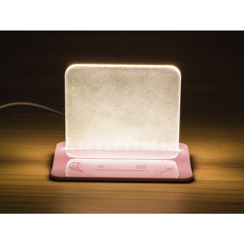Integral Led Pink Usb Table Night Light With Usb Charging Port