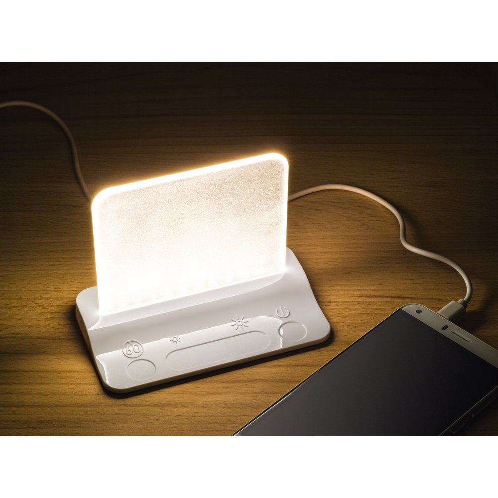 Integral Led White Usb Table Night Light With Usb Charging
