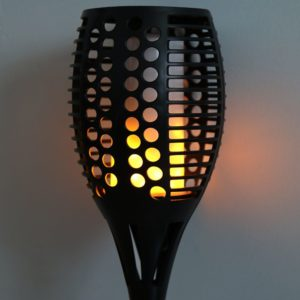 Outdoor Solar Powered Torch Spike Light With Flickering Flame